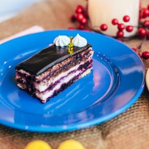 Торт «Черепаха с черникой»
