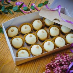 Набор кокосовых трюфелей из белого шоколада, 15 штук
