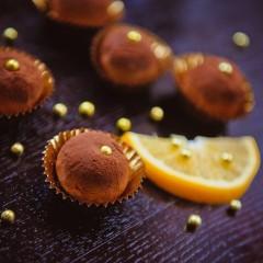 Трюфель апельсиновый из горького шоколада