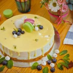 Торт лимонный с меренгой