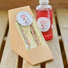 Сэндвич с ароматной говядиной на пшеничном хлебе
