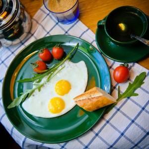 Яичница из 2-х яиц
