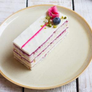 Торт малина-черника