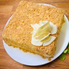 """Торт """"Наполеон"""" со сливочным кремом"""