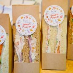 Сэндвич с лососем на пшеничном хлебе