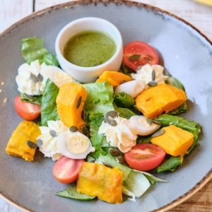 Салат с маринованной тыквой