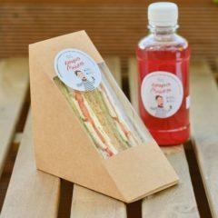 Сэндвич с курицей на ржано-пшеничном хлебе