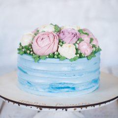 """Торт """"Зимние розы"""""""